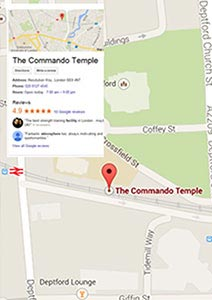 Commando Temple Map of South East London