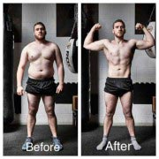 CJ - Before and after his training blitz
