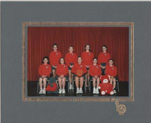 Me, front left with my primary school netball team.